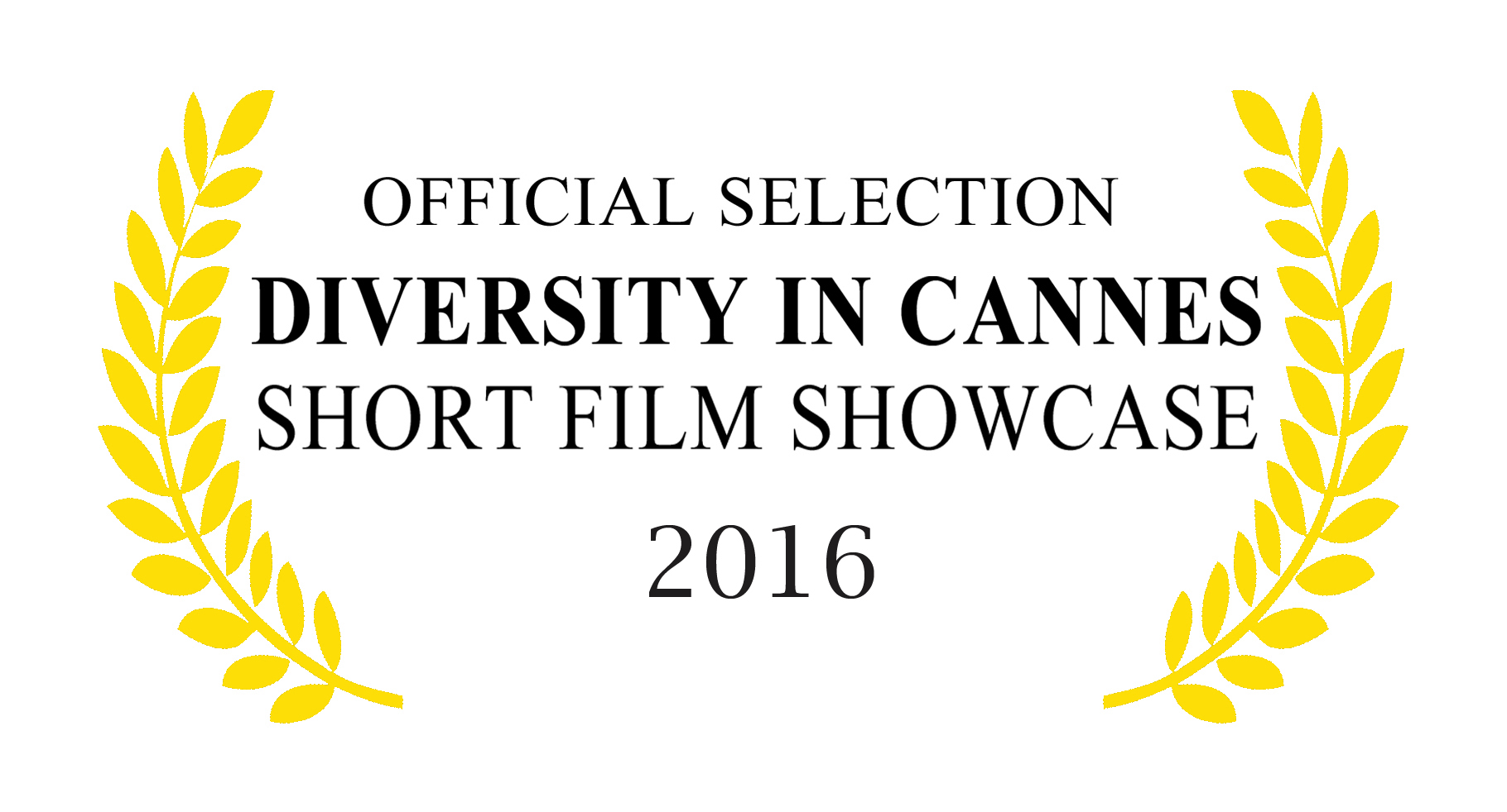 2015 DIC Official selection laurels yellow and white